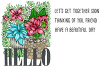 Art Gone Wild Cling Mount Stamp Set by Catherine Scanlon - Hello