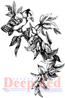 Deep Red Rubber Cling Stamps - Blue Jays