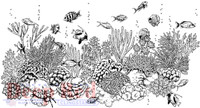 Deep Red Rubber Cling Stamps - Coral Reef