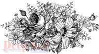 Deep Red Rubber Cling Stamps - Floral Centerpiece