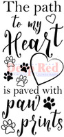Deep Red Rubber Cling Stamps - Paw Path