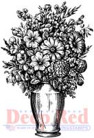 Deep Red Rubber Cling Stamps - Summer Vase