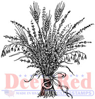 Deep Red Rubber Cling Stamps - Wheat Grass