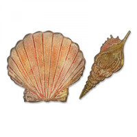 Sizzix Bigz Die with Texture Fades  by Tim Holtz - Seashells
