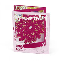 Sizzix Thinlits Die Set 5PK by Lindsey Serata - Card, Floral Tri-fold
