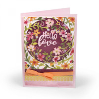 Sizzix Thinlits Die Set 3PK by Lindsey Serata - Floral Wreath