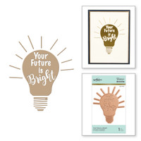 Spellbinders Glimmer Hot Foil Plates - Your Future is Bright