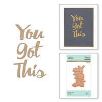 Spellbinders Glimmer Hot Foil Plates - You Got This