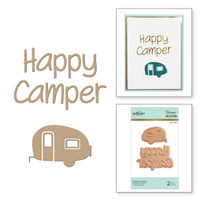 Spellbinders Glimmer Hot Foil Plates - Happy Camper