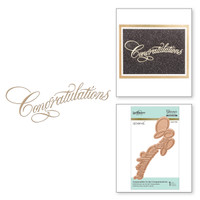 Spellbinders Glimmer Hot Foil Plates by Paul Antonio - Copperplate Script Congratulations