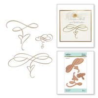 Spellbinders Glimmer Hot Foil Plates by Paul Antonio - Heart Flourishes
