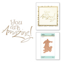 Spellbinders Glimmer Hot Foil Plates by Paul Antonio - You are Amazing