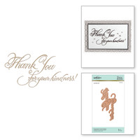 Spellbinders Glimmer Hot Foil Plates by Paul Antonio - Copperplate Script Kindness