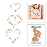 Spellbinders Glimmer Hot Foil Plates by Paul Antonio, SMS Exclusive  - 3 Hearts Set