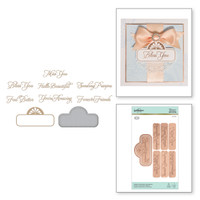 Spellbinders Glimmer Hot Foil Plates by Becca Feeken_ - Elegant Affirmation Sentiments