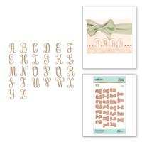 Spellbinders Glimmer Hot Foil Plates by Becca Feeken_ - Elegant Monograms