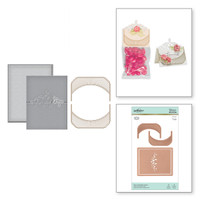Spellbinders Glimmer Hot Foil Plates by Becca Feeken_ - Place Card/Mini Topper