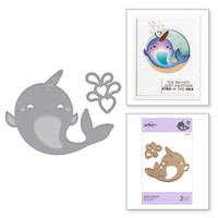 Spellbinders Exclusive Indie Collection, D-Lites Dies - Happy Narwhal