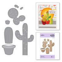 Spellbinders Exclusive Indie Collection, D-Lites Dies - Potted Cacti
