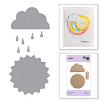 Spellbinders Exclusive Indie Collection, D-Lites Dies - Happy Weather