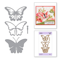 Spellbinders Exclusive Indie Collection, Shapeabilities Dies - Layered Butterfly