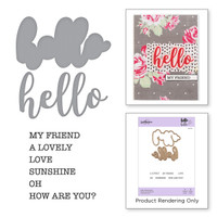 Spellbinders Exclusive Indie Collection, Stamps and Dies - Hello Expressions