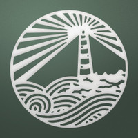 Couture Creations Dies, Seaside & Me - Lighthouse Medallion (1pc)