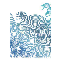 Couture Creations Hotfoil Stamp, Seaside & Me - Swirling Seas (1pc)