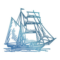 Couture Creations Hotfoil Stamp, Seaside & Me - Tall Ship (1pc)
