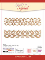 Simply Defined May 2018 Release HotFoil Stamps  - Lace Border