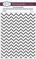 Creative Expressions Embossing Folder 5 3/4 x 7 1/2 inches - Zig Zag Squares