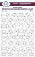 Creative Expressions Embossing Folder 7.48  x 5.70 inches - Radiant Rings PinPoint