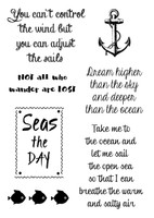 Woodware Clear Singles - Nautical Sayings