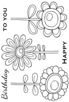 Woodware Clear Singles - Bold Blooms - Daisy Bunch
