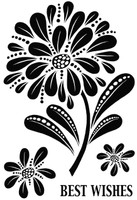 Woodware Clear Singles - Bold Blooms - Helen