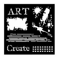 "Woodware 6 x 6"" Stencil - Art"