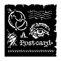 """Woodware 6 x 6"""" Stencil - Postcard"""