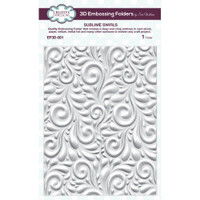 Creative Expressions Embossing Folder 3D 5.75 x 7.50 inches - Sublime Swirls