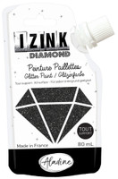 Aladine Izink Diamond Glitter Paint - Noir (Black)