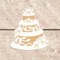 Couture Creations Dashing Ballroom Cut & Foil Die - Wedding Cake