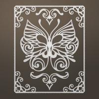 Ultimate Crafts Die - Framed Butterfly Flourish Set