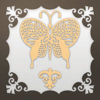 Ultimate Crafts Die - Framed Art Deco Butterfly Set