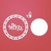 Ultimate Crafts Die - Be Merry Lace Doily (4pc)