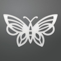 Ultimate Crafts Die - Art Deco Butterfly Decorative (1pc)