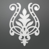 Ultimate Crafts Die - Flourished Harp Decorative (1pc)