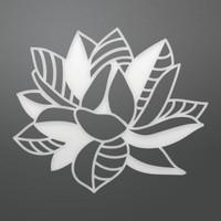 Ultimate Crafts Die - Crosshatch Bloom Decorative (1pc)