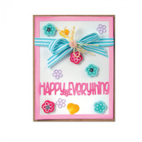 Sizzix Framelits Die Set 13PK - Card Front with Block Words Drop-ins