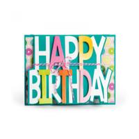 Sizzix Framelits Die Set 3PK - Card, Happy Birthday Drop-ins
