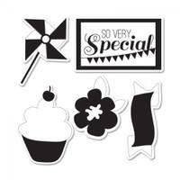 Sizzix Framelits Die Set 5PK w/Stamps - Sweet Day #2
