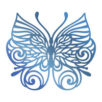Couture Creations GoPress Foil Hotfoil Stamp - Baroque Butterfly